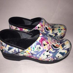 Dansko colorful clogs mules nursing shoes 39